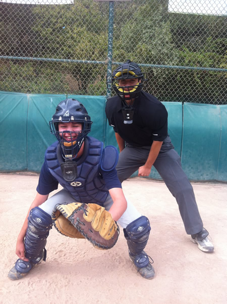 The Ump (and his brother as catcher)